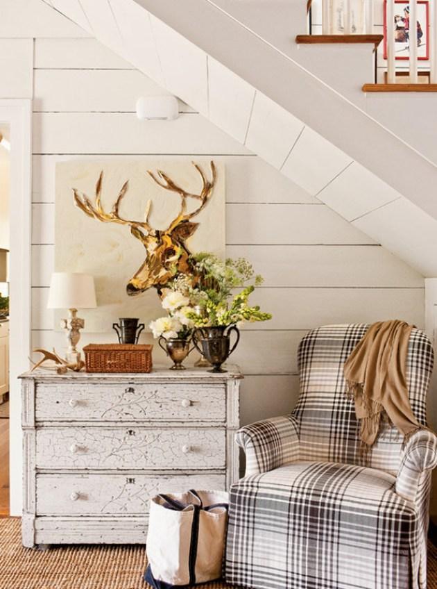 coin lecture sous l escalier décoration hygge cosy aménager un dessous d'escalier