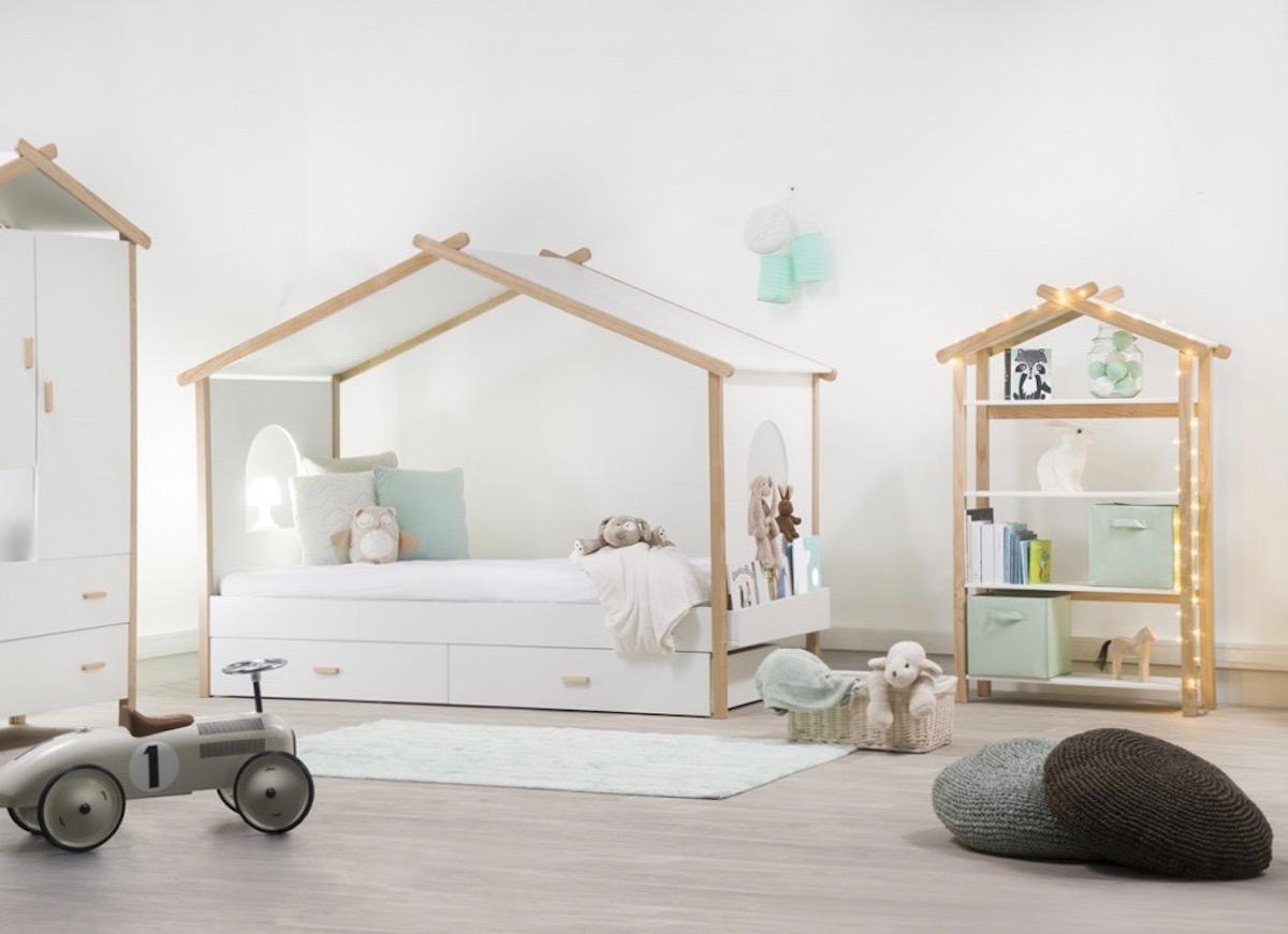 Lit Cabane Interieur Scandinave Deco Chambre Enfant