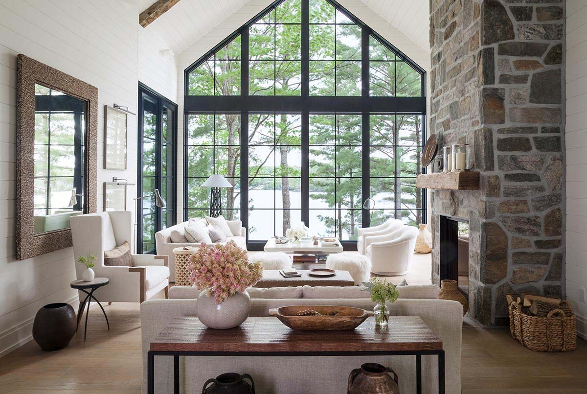 Charmant Deco Style Rustique Moderne Salon Traditionnel Cosy