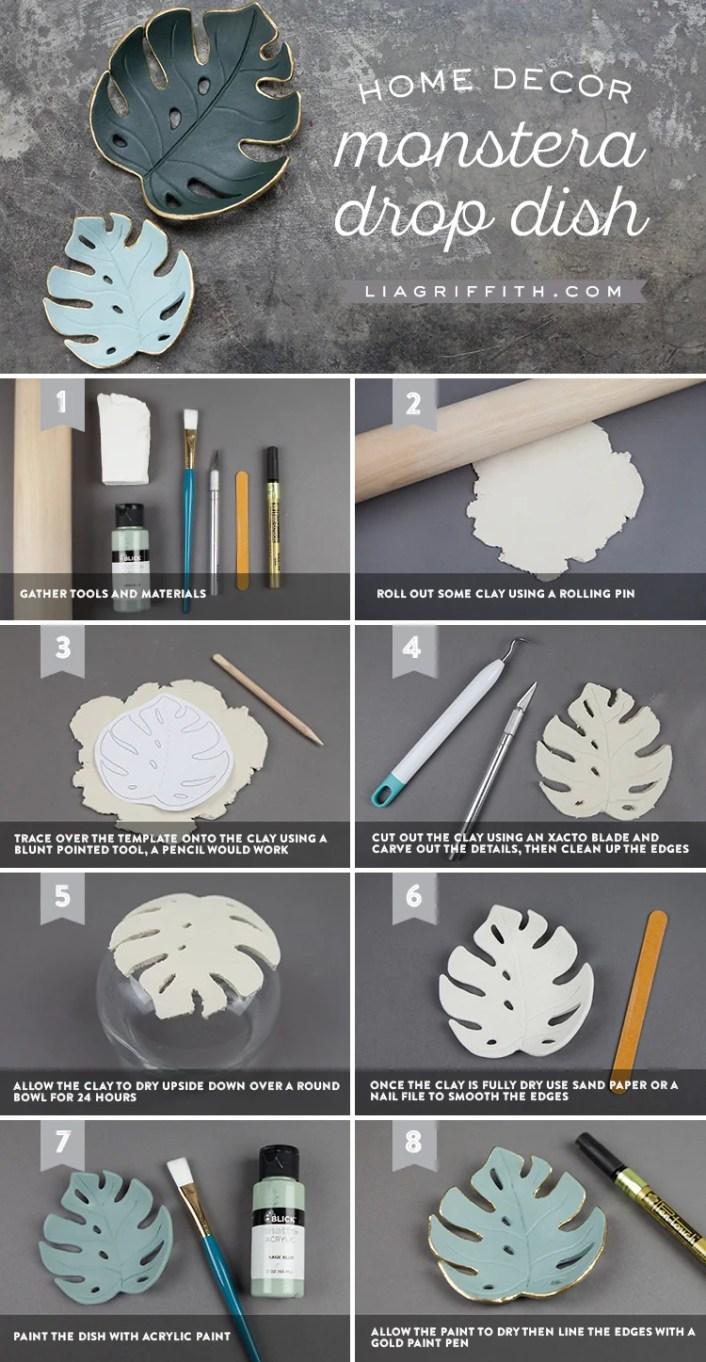 idee tutoriel diy argile blanche tendance tropicale clematc blog deco