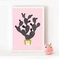 chez moi decoration affiche cactus blogueuse deco clemaroundthecorner
