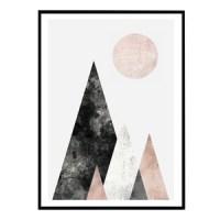 affiche scandinave montagne blog decoration interieure design clemaroundthecorner