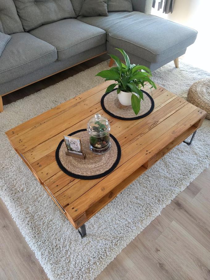 Comment Fabriquer Table Basse Palette Diy Blog Déco Clem Around The Corner