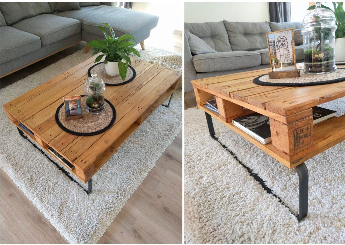 Agreable Table Basse Palette Diy Blog Déco Clemaroundthecorner