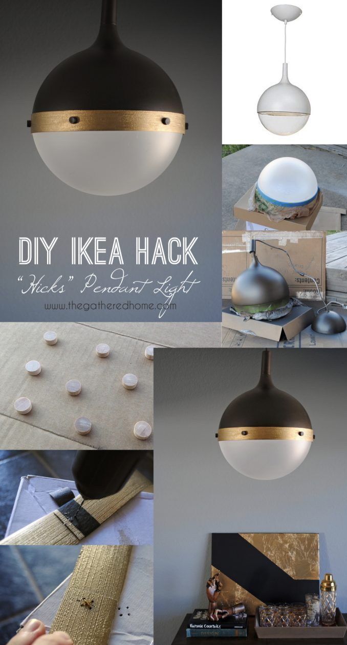 IKEA Hack Lampe DIY Suspension   Blog Déco   Clem Around The Corner