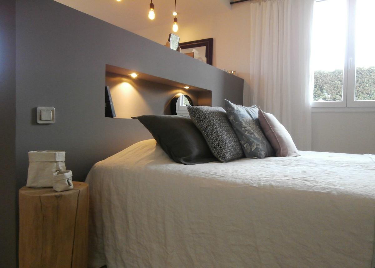 Aménagement Chambre à Coucher Feng Shui Photo Large Lit Gris  Blog Déco   Clem Around