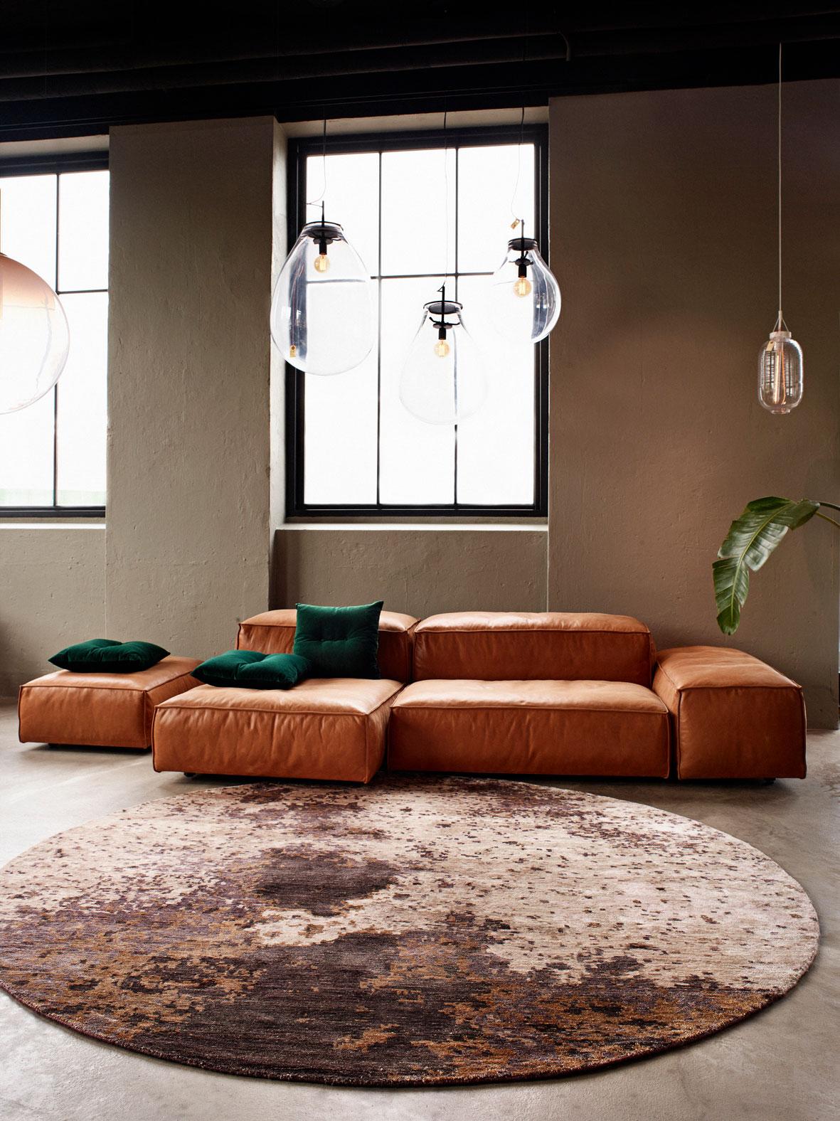 Tapis Salon Style Industriel. Tapis Rond : Pas Cher Et Design   Blog Déco    Clem Around The Corner
