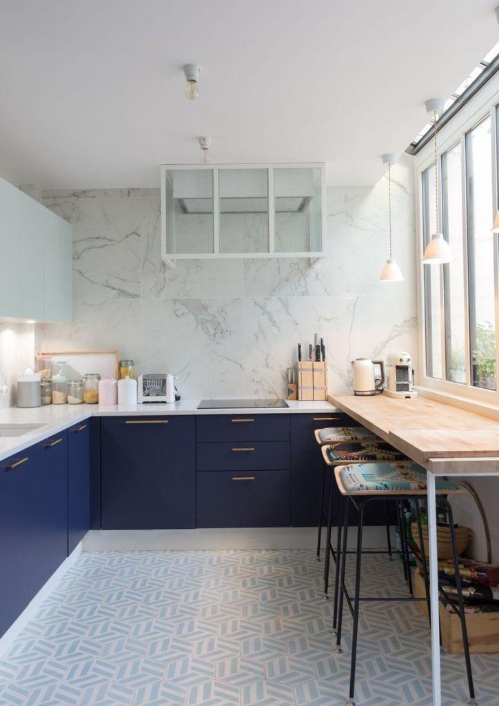 cuisine bleue idée meuble couleur - blog déco - clem around the corner