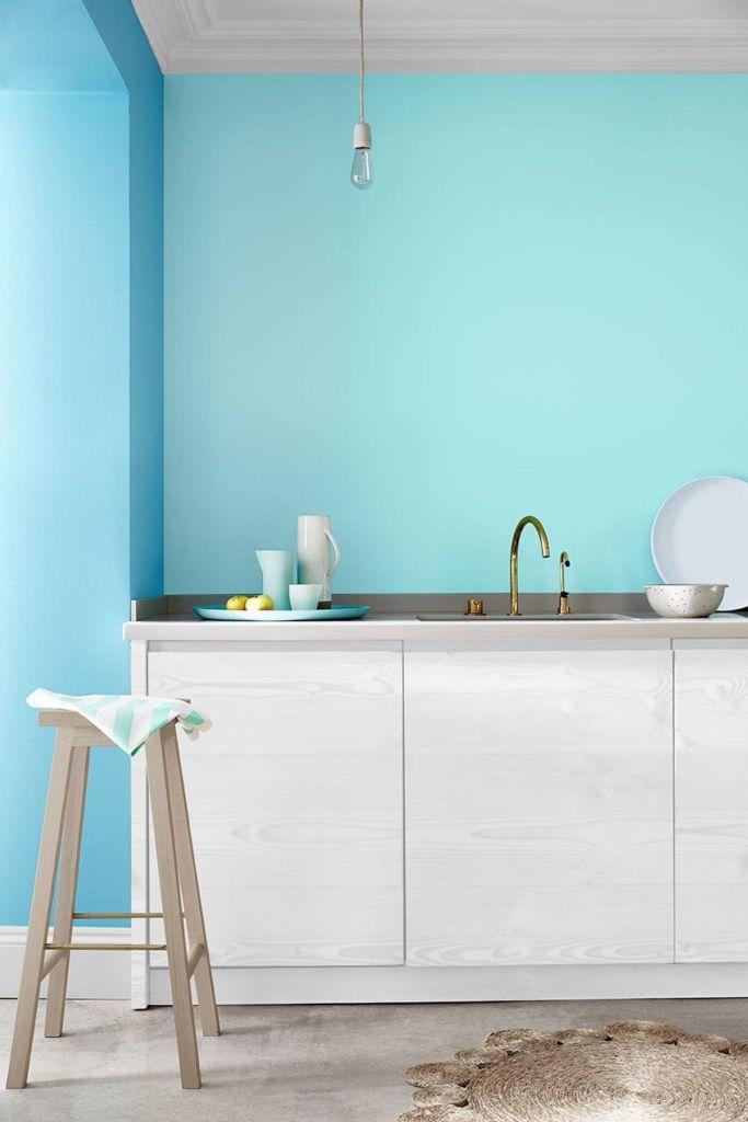 cuisine bleue turquoise bohème scandinave - blog déco - clem around the corner