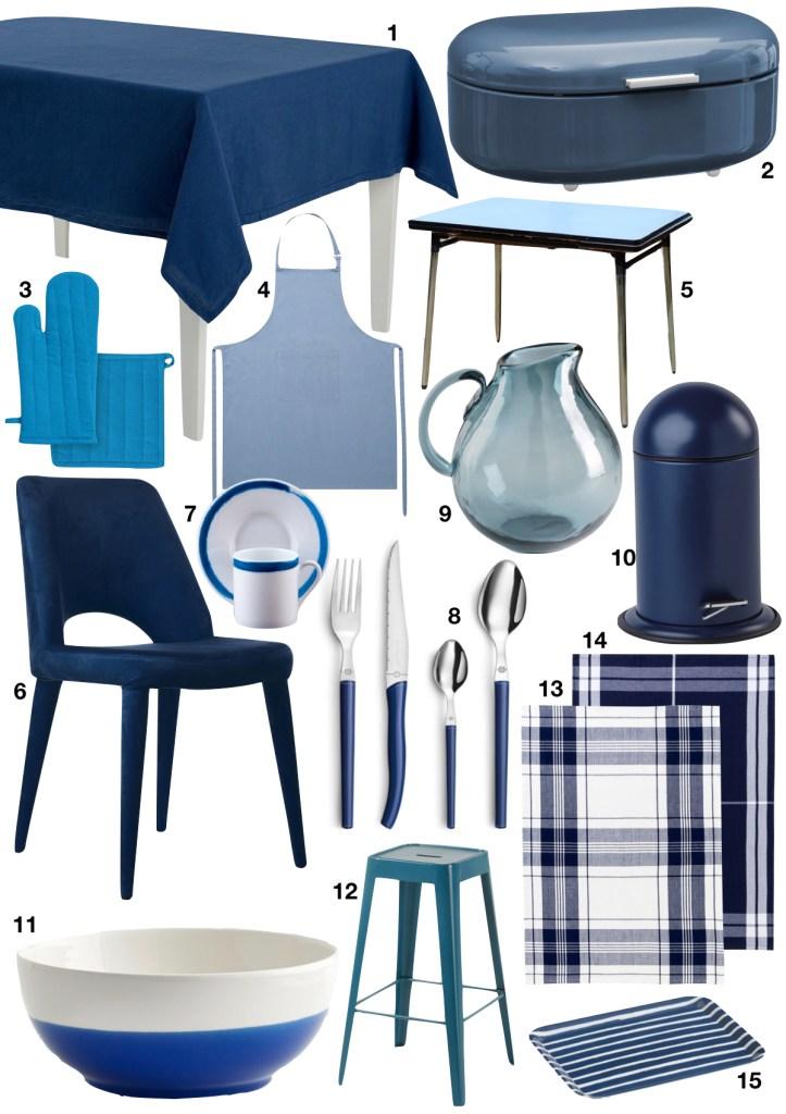 cuisine bleue shopping list - blog déco - clem around the corner