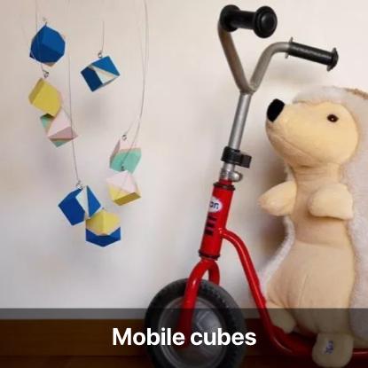 mobile cubes tutoriel - blog diy création déco - clem around the corner