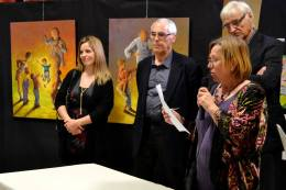 Clémence CARUANA - Prix de la ville au 3e Salon des arts plastiques de Lanta, Novembre 2015