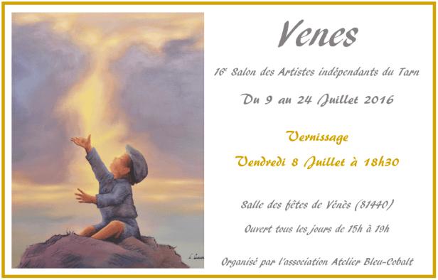Clémence Caruana - 16e Salon des artistes indépendants du Tarn à Vénès Juillet 2016