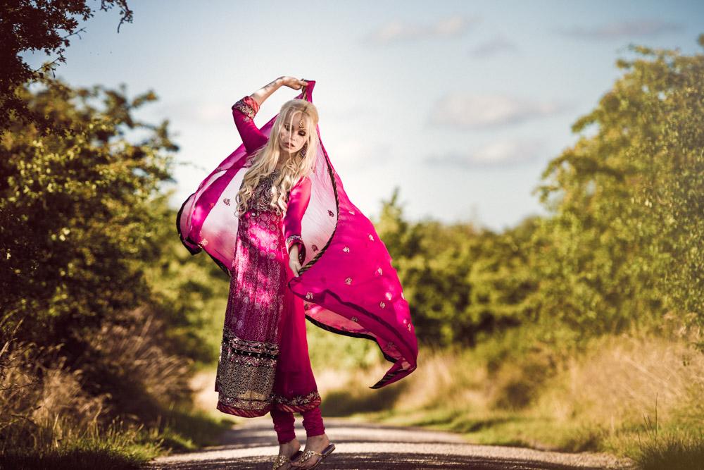 Portræt af Fie Rose, India style, Fashion, beauty, smuk, blond