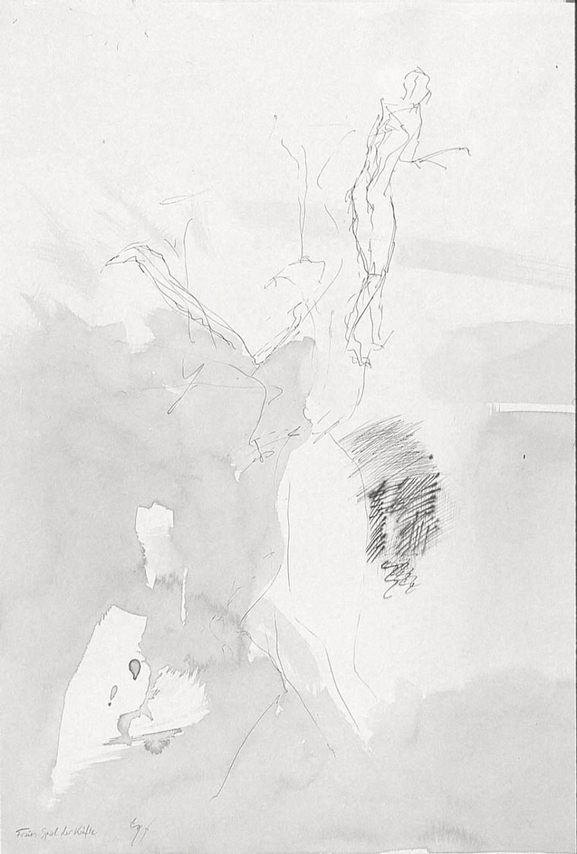 freies spiel der kräfte, tusche auf karton, 1996