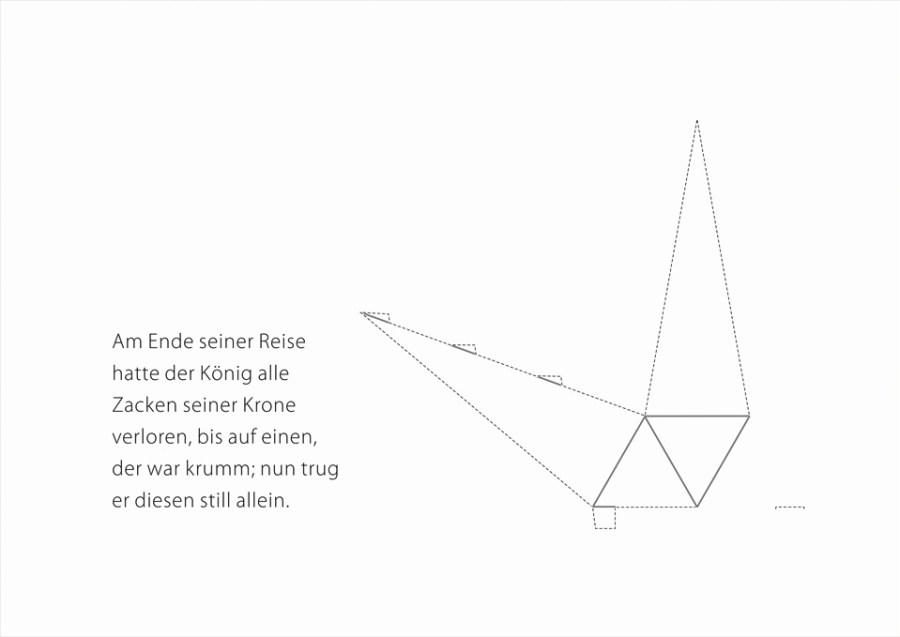 märchen (für w.) — papierskulptur, 2014 digitaldruck auf karton, din a 4, rückseitig farbiger holzschnitt