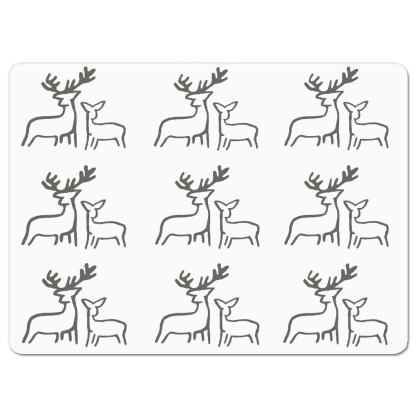 Deer Placemat by Clement Design