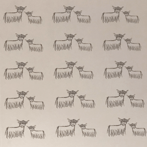 Highland Coo Wallpaper by Clement Design