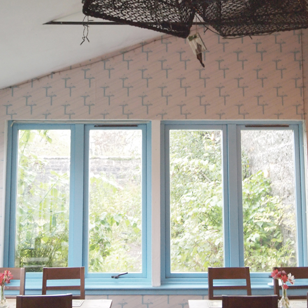 Birds on Wire Wallpaper by Clement Design at Walled Garden
