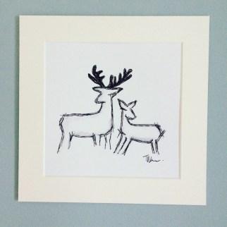 deer print mounted