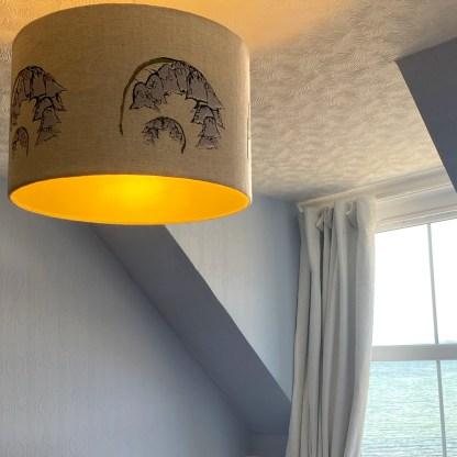 Scottish Bluebells Hand-printed Lampshade by Clement Design for Applecross Inn