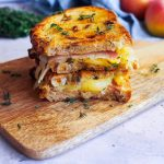 grilled cheese aux pommes et comté