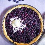 tarte aux myrtilles et glace vanille