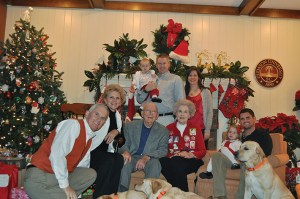 The First Family, with all four generations, Christmas 2011.