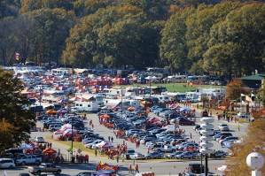 With 80,000-plus coming to town, parking spaces are at a premium, and the best ones (almost 15,000) belong to IPTAY. Of those, 8,000 are numbered and 7,000 are first-come, first-served spaces. the lot near the baseball field boasts almost 200 RV spaces where fans can park from Thursday noon until Sunday.