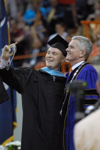 Barker has presented diplomas to more than 57,000 graduates.