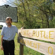 Régis Pluchet, sixth-generation descendant of André Michaux, visited the Clemson Forest as part of a trip to the United States to retrace his ancestor's steps.