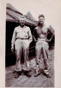 U.S. Army Lieutenants Timothy Barrineau '39 and Frank Cheatham '40 in Port Moresby, New Guinea, Dec. 1942 (photo courtesy of Simon Cheatham).