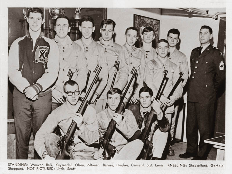 Sarge Lewis with rifle team