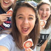Put a Ring on it Morgann Alcumbrack, Fleming Hall and Mary Catherine Harbin were three of the more than 1,700 students who purchased their Clemson rings this past fall. The three-day fall ring sale set a record for the most rings ever purchased in a semester.