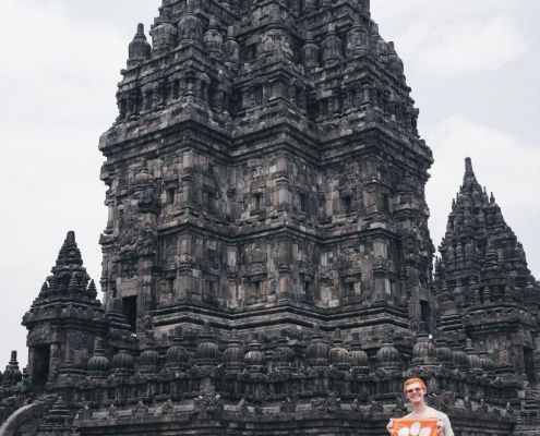 Neal O'Sullivan '17 explored the Prambanan Temple in Indonesia during his travels of Southeast Asia following graduation.