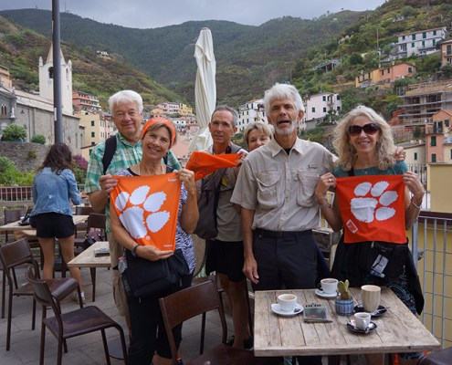 Italy: Greg Padgett, retired from University Housing, and Ken '71 and Kaye '75 Grant
