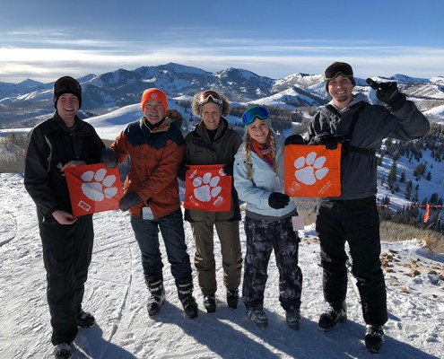 Utah: Nick Greene '10, Benson Black '77, LeAnne Black Greene '79, Shannon Thompson '15 and Corey Greene '17