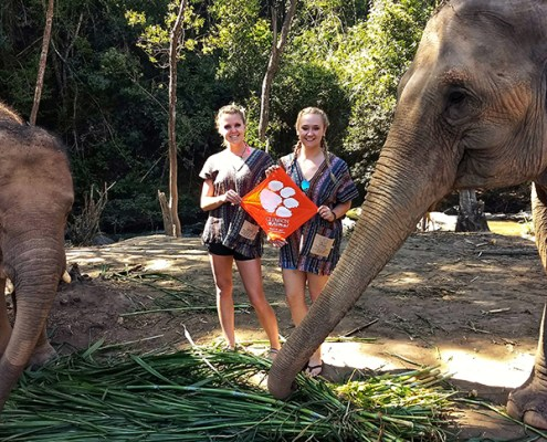 Thailand: Olivia Smith '15 and Peyton Fish '15