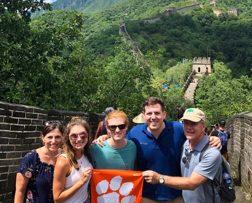 China: Ken '84, Becky '86, Ashleigh '15 and Bryson '17 Stoddard