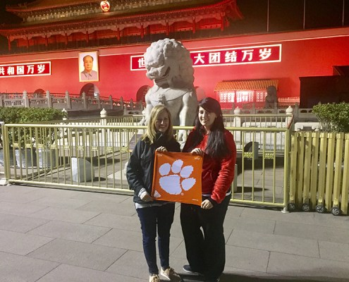 China: Susan Echols Smith '97, M '04 and Krystal Brummitt '10