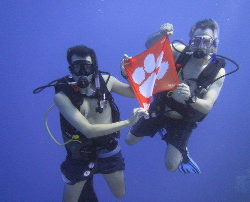 Turks and Caicos Islands: Dudley C. Beaty III '84 and his son John Beaty '19