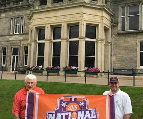 Scotland: Al Berry '65 and his son Brian Berry '97