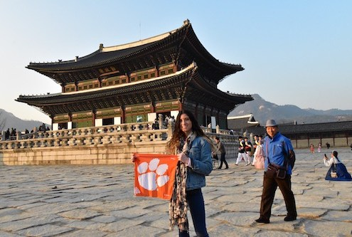 "South Korea: Gina Gennaro '16 traveled to Seoul to visit her friend who teaches English there. ""During the week, while [my friend] was at work, I solo traveled around the city to visit all the palaces and temples and shrines. [Gyeongbokgung] Palace was the biggest and my favorite."""