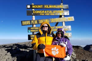 Tanzania: Lou Ann Brennan '80 and Steve Hall '83 summited Mount Kilimanjaro in August 2019.