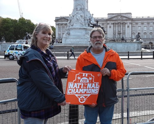 England: Ralph Ricks, feed mill manager at Morgan Poultry Center, and Ronda Ricks, admissions receptionist, visited the iconic Buckingham Palace in London.