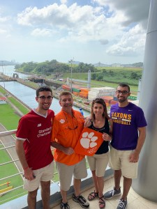 Panama: Kyle Seelman '20, Paul Seelman M '87, Ana Seelman and Tyler Seelman visited the Panama Canal over the 2019 winter holidays.