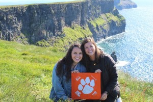 Ireland: Haley Vivona '19 and Mary Web Adams '19, both health science majors, took a trip to Ireland, visiting the famous Cliffs of Moher, to celebrate their graduation from Clemson.