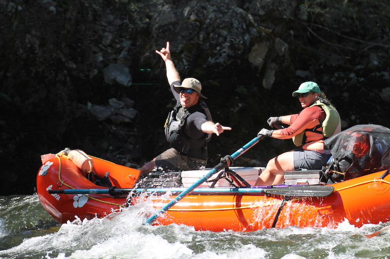 Idaho: Darby Webb '93 and her husband, Douglas Smith, went rafting in their custom-built Clemson raft down the Middle Fork of the Salmon River.