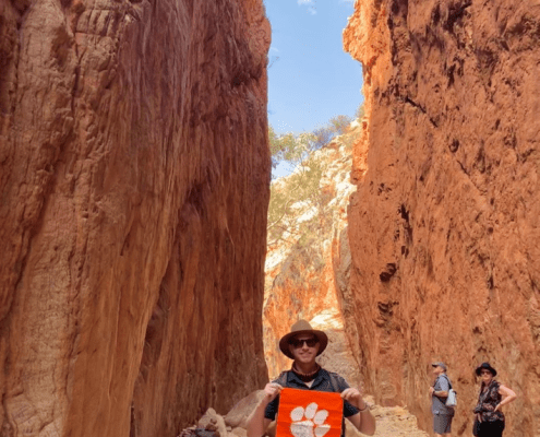 Australia: Patrick Sturgis '12 was relocated to Australia for work just before the pandemic. When the Northern Territory opened its borders, he quickly jumped on the opportunity to take a trip to Alice Springs to see the remote Australian Outback, including the Standley Chasm.