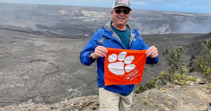 Hawaii: Chris Hollar '84 took a trip to Volcanos National Park on the Big Island and saw the summit crater of Kīlauea, an active shield volcano.